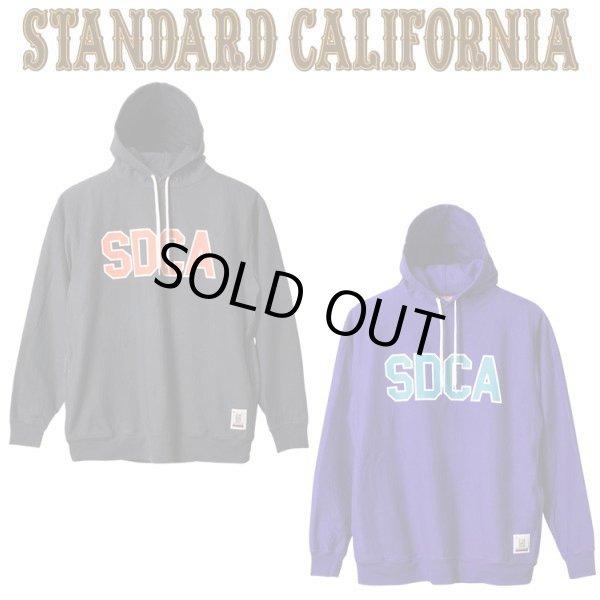 画像1: STANDARD CALIFORNIA [スタンダードカリフォルニア] US Cotton Pullover Hood Sweat with Logo [CHARCOAL,PURPLE] USコットンプルオーバーフードスエットロゴ パーカー (チャコール、パープル) AIS     (1)