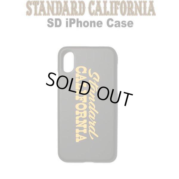 画像1: STANDARD CALIFORNIA [スタンダードカリフォルニア] SD iPhone Case [Black] アイフォンケース iPhoneX,Xs対応  (ブラック) AIS     (1)