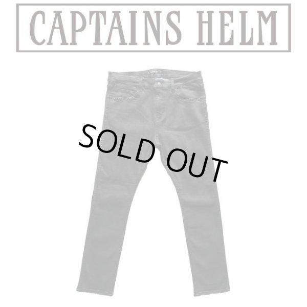 画像1: Captains Helm [キャプテンズヘルム] NARROW ST BLACK DENIM PANTS -STUDS CUSTOM (BLACK) ナローSTブラックデニムパンツスタッズカスタム (ブラック) CH19-AW-P02 AIA (1)