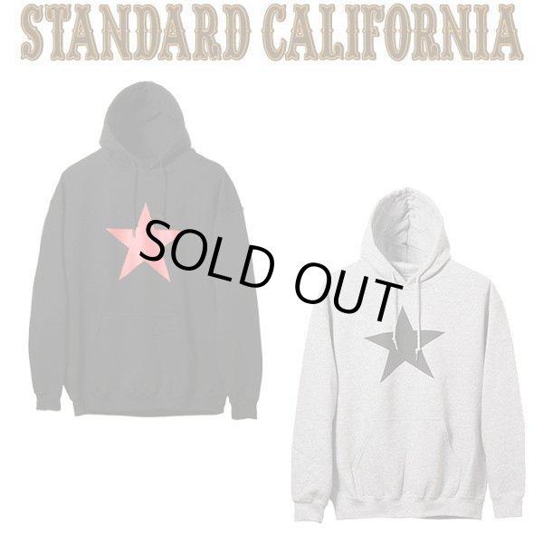画像1: SEX WAX × STANDARD CALIFORNIA [セックスワックス×スタンダードカリフォルニア] SD Pullover Hood Sweat [Black,Gray] プルオーバーフードスエットロゴ プルオーバーパーカー (ブラック、グレー) AIA (1)