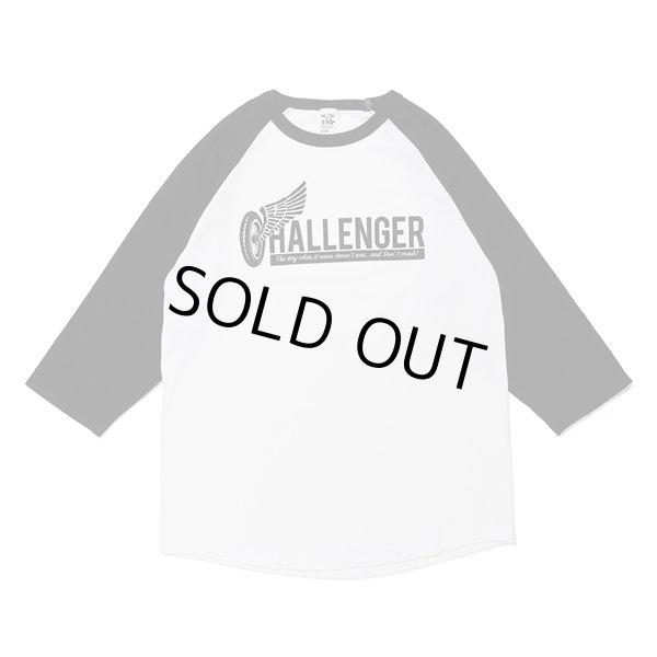 画像1: CHALLENGER [チャレンジャー] WHEEL LOGO RAGLAN TEE ホイールロゴラグランTシャツ CLG-TS 020-024  (1)