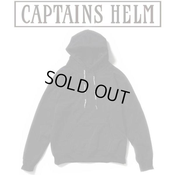 画像1: Captains Helm [キャプテンズヘルム] TRADEMARK TEC HOODIE [BLACK] トレードマークテックフーディー プルオーバーパーカー (ブラック) AJA (1)
